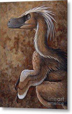 Velociraptor, A Dromaeosaurid Dinosaur Metal Print