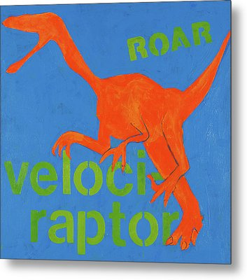 Velociraptor Metal Print by Laurie Breen