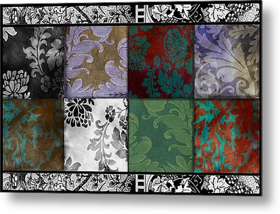Velvet And Damask Tapestry Metal Print by Mindy Sommers
