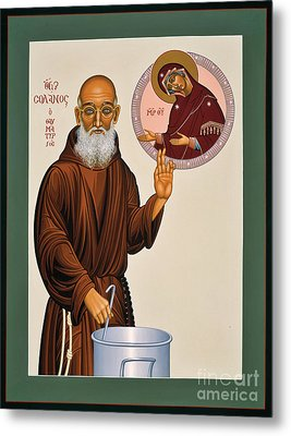 Metal Print featuring the painting Venerable Fr. Solanus Casey The Healer 038 by William Hart McNichols