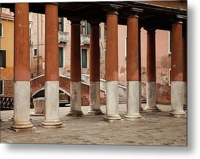 Venetian Columns Metal Print by Art Ferrier