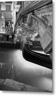 Metal Print featuring the photograph Venetian Daily Scene by Yuri Santin