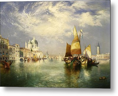 Venetian Grand Canal Metal Print by Thomas Moran