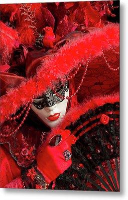 Venetian Lady In Red II  Metal Print