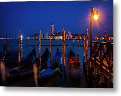 Venetian Lagoon At Twilight Metal Print by Andrew Soundarajan