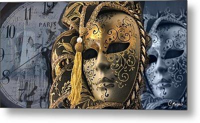 Venetian Masks Metal Print by Cesar Moraes