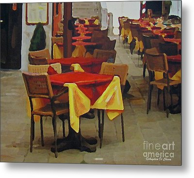 Venetian Tables Metal Print
