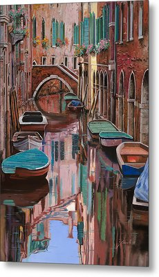 Venezia A Colori Metal Print by Guido Borelli