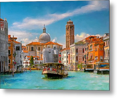 Metal Print featuring the photograph Venezia. Fermata San Marcuola by Juan Carlos Ferro Duque