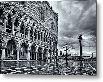 Venice After The Rain Metal Print by Andrew Soundarajan