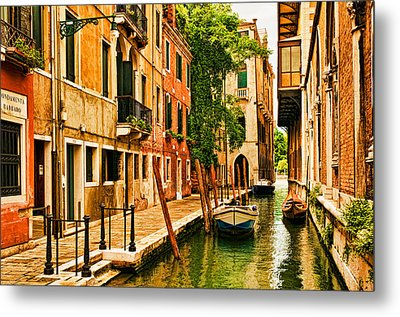Venice Alley Metal Print by Mick Burkey