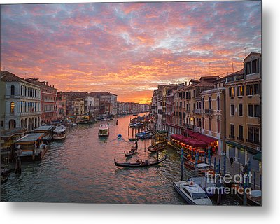 Venice At Sunset - Italy Metal Print