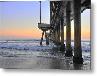 Venice Beach Pier Sunset Metal Print