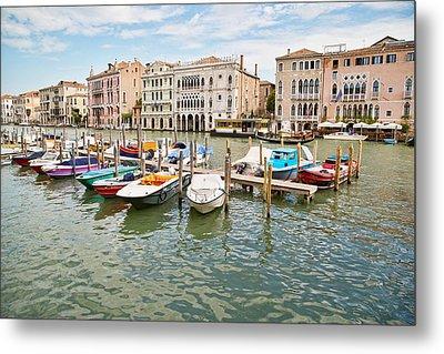 Venice Boats Metal Print