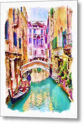 Venice Canal 2 Metal Print by Marian Voicu