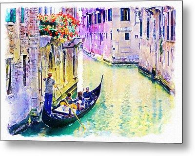 Venice Canal Metal Print