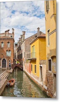 Venice Canal Metal Print by Sharon Jones