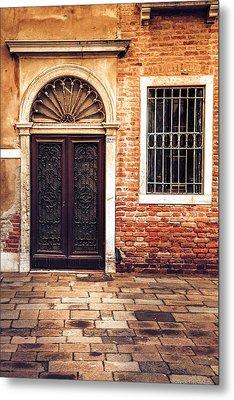 Venice Door Metal Print by Andrew Soundarajan