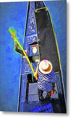 Venice Gondola Series #4 Metal Print by Dennis Cox