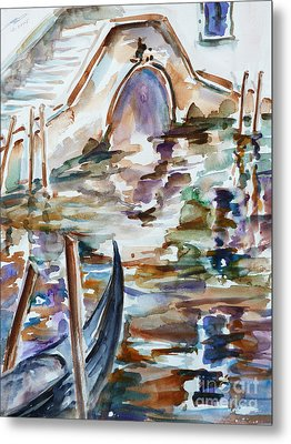Metal Print featuring the painting Venice Impression I by Xueling Zou