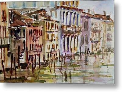 Metal Print featuring the painting Venice Impression II by Xueling Zou