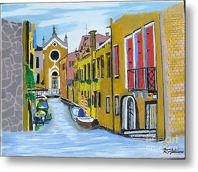 Metal Print featuring the painting Venice In September by Rod Jellison