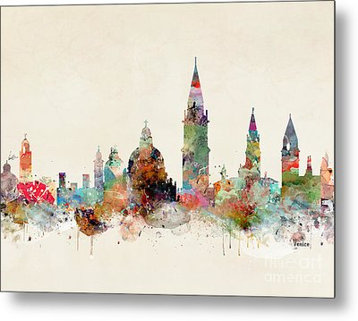 Metal Print featuring the painting Venice Italy by Bri B