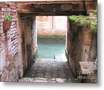 Venice- Italy-garage Metal Print by Italian Art
