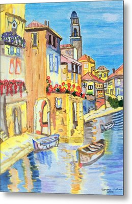 Metal Print featuring the painting Venice On A Summer Afternoon by Connie Valasco