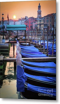 Venice Sunrise Metal Print by Inge Johnsson