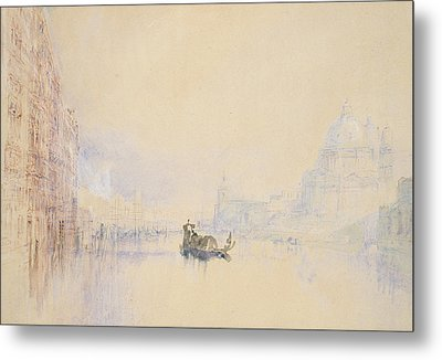 Venice  The Grand Canal Metal Print by Joseph Mallord William Turner