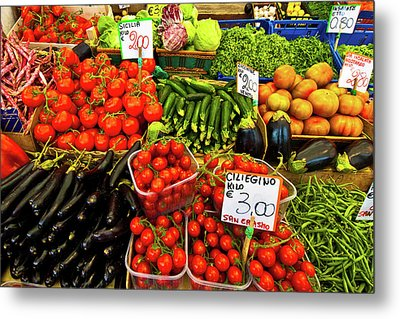 Metal Print featuring the photograph Venice Vegetable Market by Harry Spitz