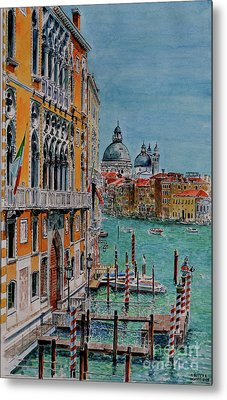 Venice, View From Academia Bridge Metal Print by Anthony Butera