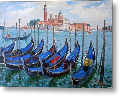 Venice View Of San Giorgio Maggiore Metal Print by Ylli Haruni
