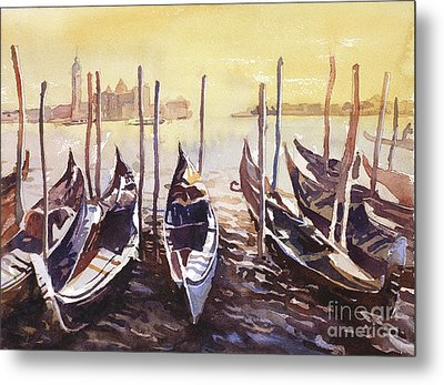 Metal Print featuring the painting Venice Watercolor- Italy by Ryan Fox