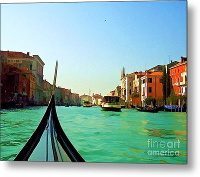 Venice Waterway Metal Print by Roberta Byram