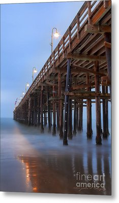 Metal Print featuring the photograph Ventura Ca Pier At Dawn by John A Rodriguez