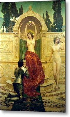 Venusberg Scene From Tannhauser Metal Print by John Collier