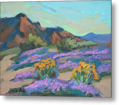 Metal Print featuring the painting Verbena And Spring by Diane McClary