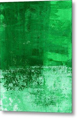 Verde-  Contemporary Abstract Art Metal Print