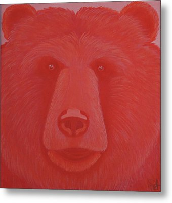 Vermillion Bear Metal Print
