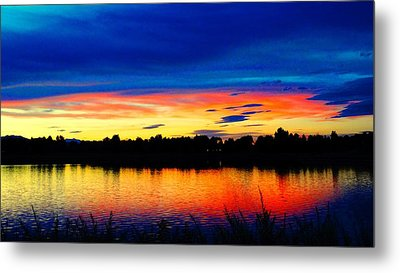 Metal Print featuring the photograph Vermillion Sunset by Eric Dee