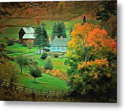 Vermont Country Metal Print
