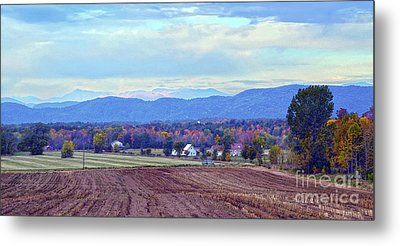 Vermont Countryside In Autumn Metal Print by Catherine Sherman