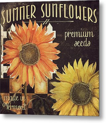 Vermont Farms Sunflowers Metal Print