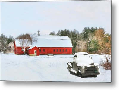 Metal Print featuring the digital art Vermont Memories by Sharon Batdorf