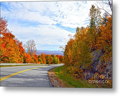 Vermont Mountain Road Metal Print by Catherine Sherman