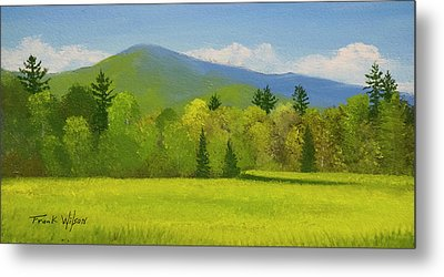 Metal Print featuring the painting Vermont Spring by Frank Wilson