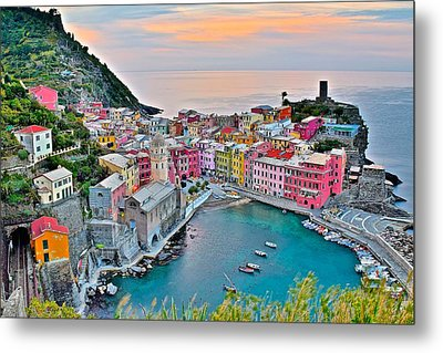 Vernazza At Daybreak Metal Print by Frozen in Time Fine Art Photography