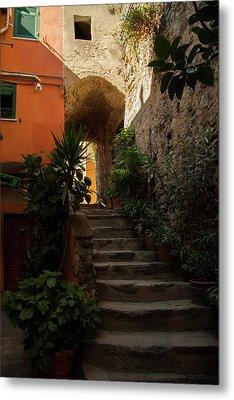 Vernazza Stairway 1 Metal Print by Art Ferrier